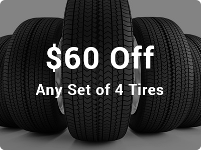 $60 Off Any Set of 4 Tires