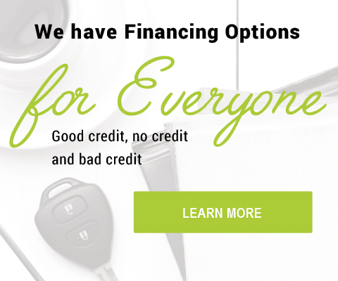 We have financing options for everyone