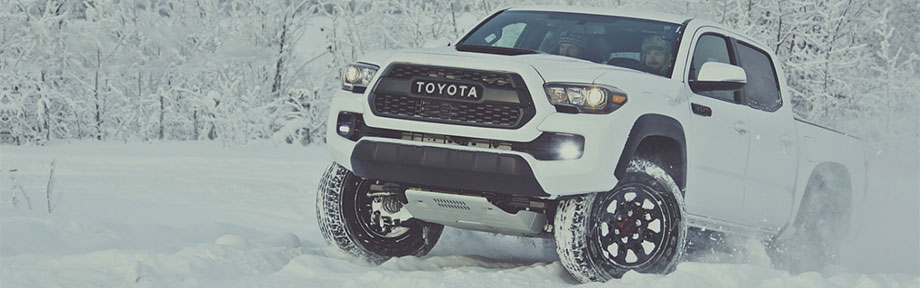 Toyota tacoma TRD truck in the snow