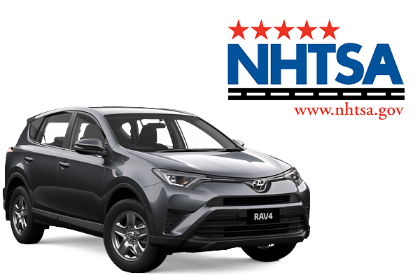 NHTSA Logo and Rav4